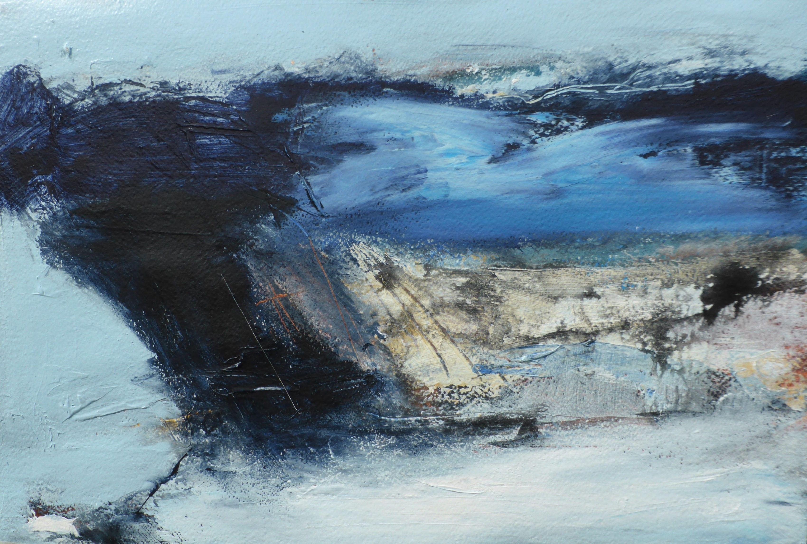 Porthledden - Cape Cornwall, Mixed Media on Paper, 55 x 65cm