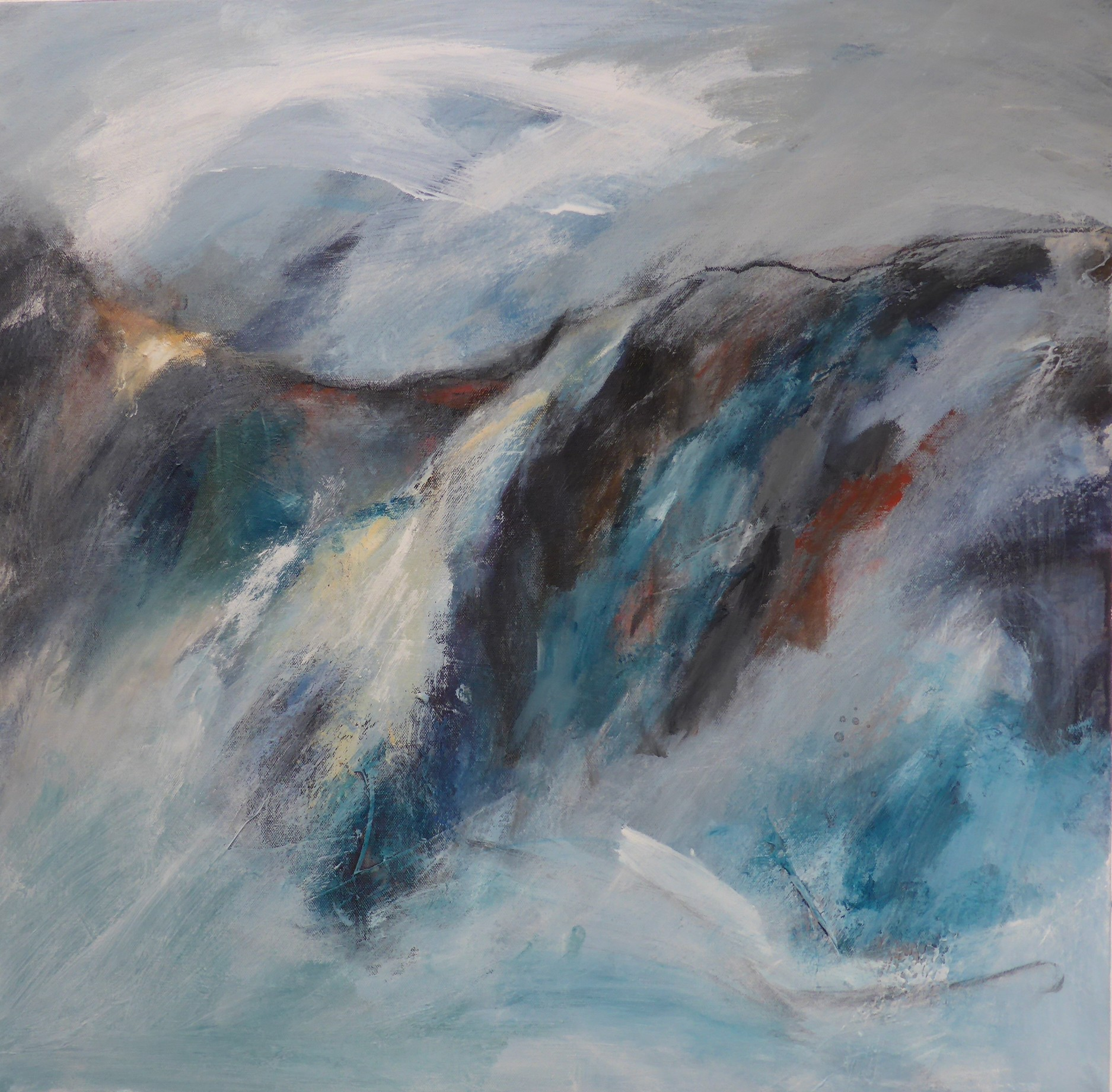 Trevescan Cliff Towards Land's End, 70 x 70cm